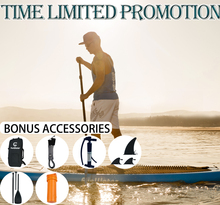 цена на Inflatable Stand Up Paddle Board Sup-Board Surfboard Kayak Surf set 350*84*15cm with Backpack,leash,pump,waterproof bag,fins.