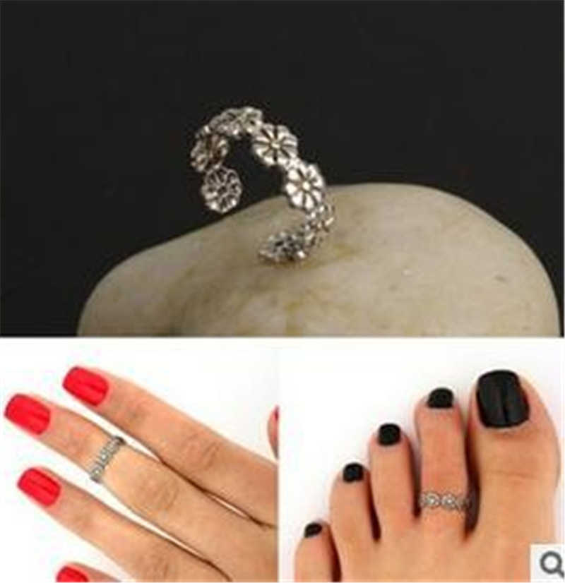 2019 new summer wild daisies flowers luck foot ring joint ring