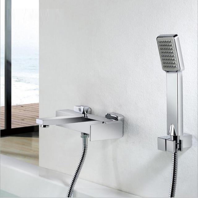 Bath Mixer Hot Cold Water Mixer Valve Bathroom Shower Set Tub Shower