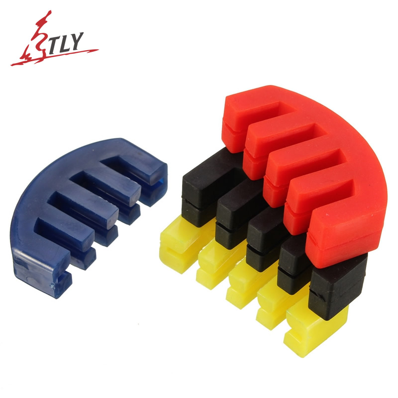 1 Piece Five Claws Rubber Violin Mute Silencer Quiet Practice Violin Mute Reduce Volume for 1/2 3/4 4/4 Violin Four Colors