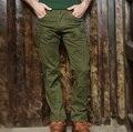 2017 de la moda Elástica recta pantalones delgados de herramientas militares masculinos pantalones multibolsillos pantalones casuales hombres monos flacos