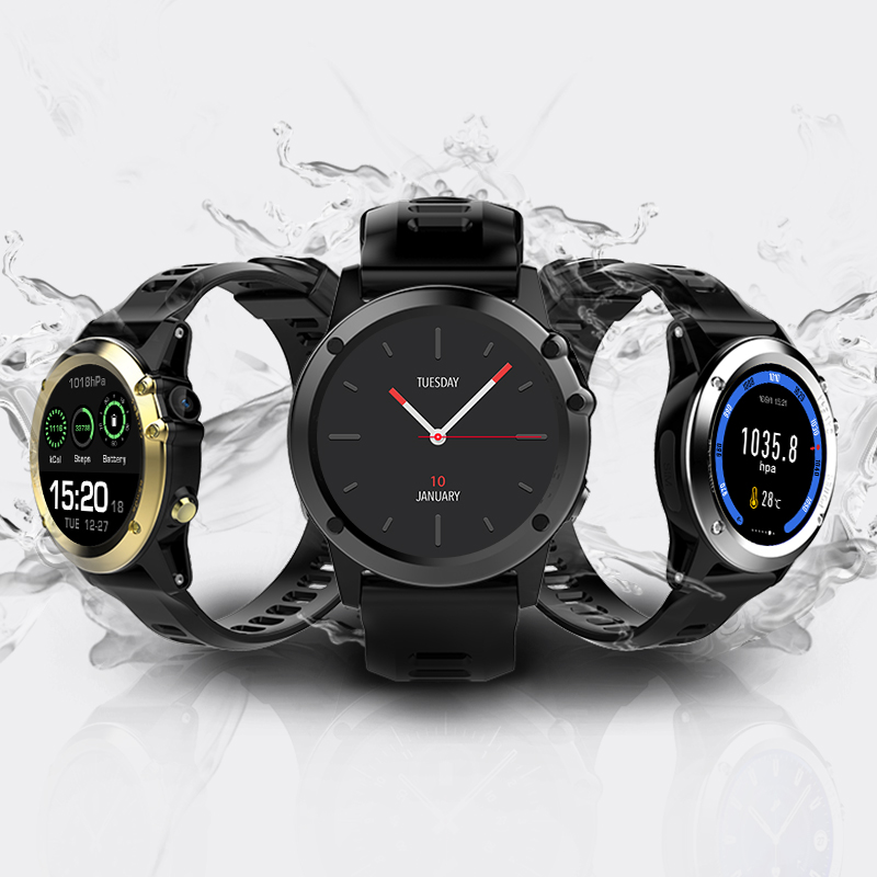 H1 3G Smartwatch Phone 1.39 Inch Android 4.4 MTK6572 Dual Core 1.2GHz 4GB ROM IP68 Waterproof 5.0MP Camera Pedometer pk H2 KW88 - 6