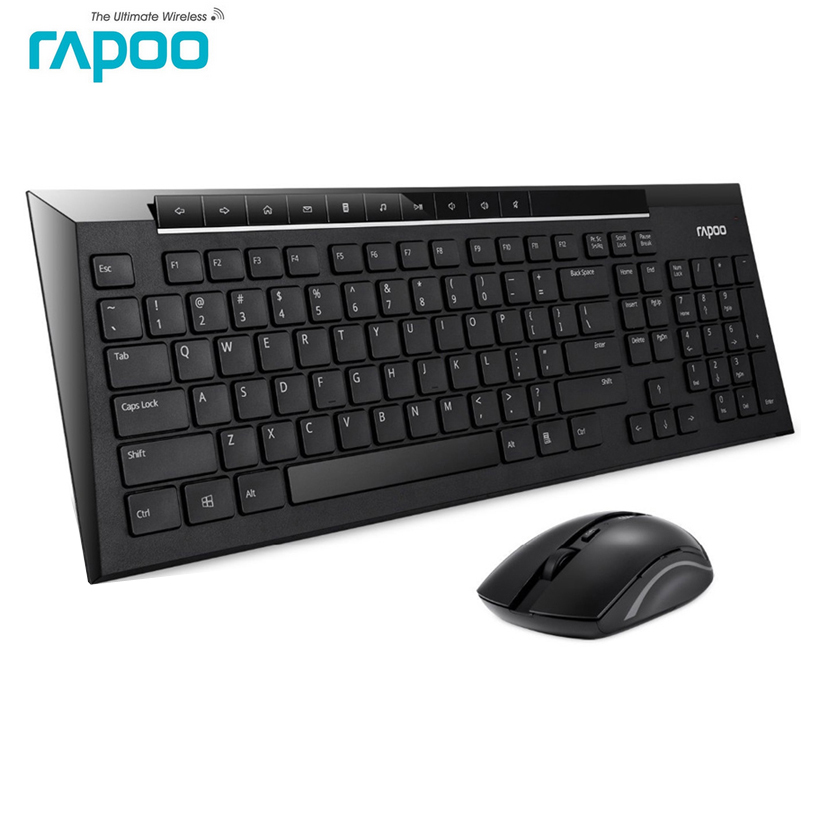buy rapoo 8200p multimedia silent wireless keyboard and mouse combo with. Black Bedroom Furniture Sets. Home Design Ideas
