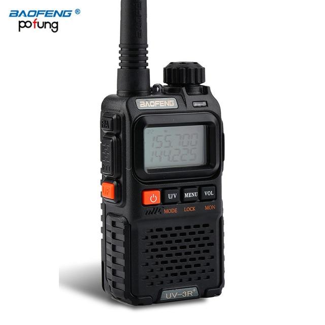 Baofeng UV 3R Plus Mini Walkie Talkie CB Ham VHF UHF Radio Station Transceiver Boafeng Amador Communicator Woki Toki Handheld