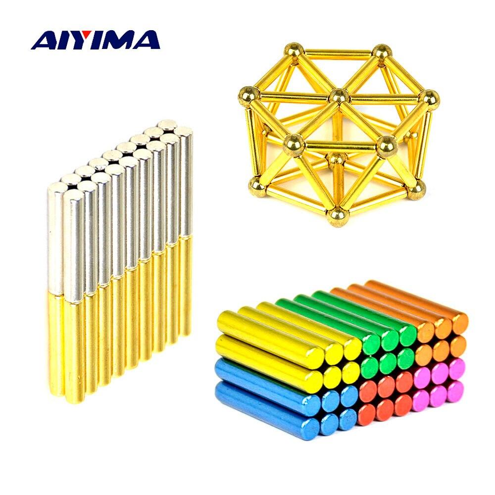 Aiyima 1 Unidades bolas 8mm neodimio imán bares fuerza magnética juguete bolas de Metal construcción creativa DIY regalos Imanes ndFeB