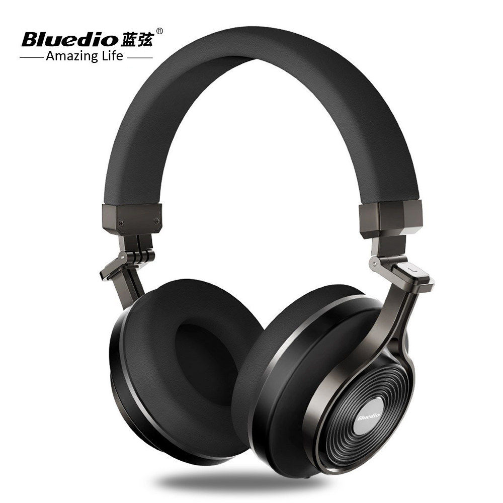Bluedio t3 Bluetooth Headset Headphones With HD Mic & 2 DPS Noise reduction Earbuds 3D Stereo Bass Wireless+Wired Double Mode original fashion bluedio t2 turbo wireless bluetooth 4 1 stereo headphone noise canceling headset with mic high bass quality