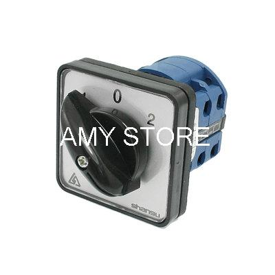 Rotary Selector 3 Positions 8 Screw Changeover Switch 660V 20A