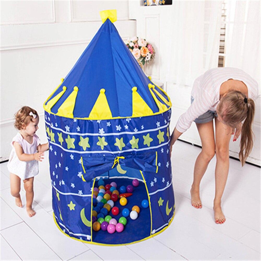 4 couleurs jouer tente Portable pliable Prince pliant tente enfants garçon château maison jouer maison enfants cadeaux intérieur extérieur tentes!