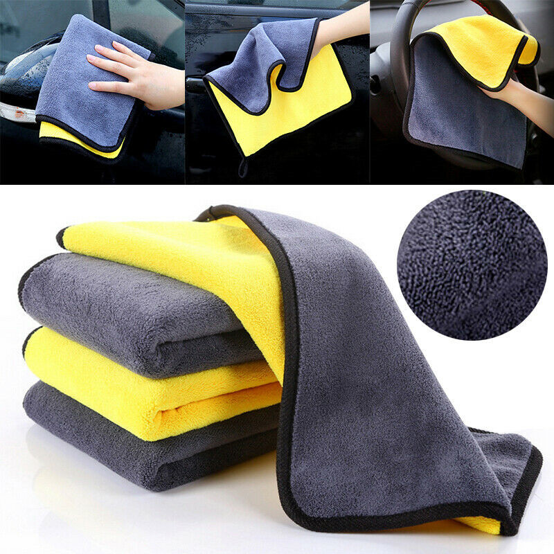 Microfiber Car Wash Towel Car Cleaning Cloth FOR  volkswagen bmw e46 e90 peugeot 206 307 mercedes audi a3 seat ibiza leon fiat 5-in Car Tax Disc Holders from Automobiles & Motorcycles