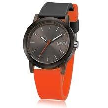 DWG бренд спортивные часы Для мужчин кварцевые наручные часы для Для женщин силиконовый ремешок Наручные часы модные женские Водонепроницаемый часы для любителей