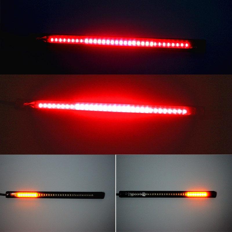 48 LED Light Bar Strip Tail Brake Stop Turn Signal License Plate Light Integrated 3528 SMD