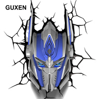 Guxen Transformers Optimus Prime Decoration 3D Lamp Kids Action Figures Movie Robot LED Night Light Kids Boys Toys Gifts Light