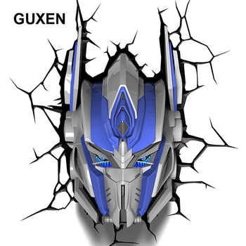 Guxen Transformers Optimus Prime Decoration 3D Lamp Kids Action Figures Movie Robot LED Night Light Kids Boys Toys Gifts Light
