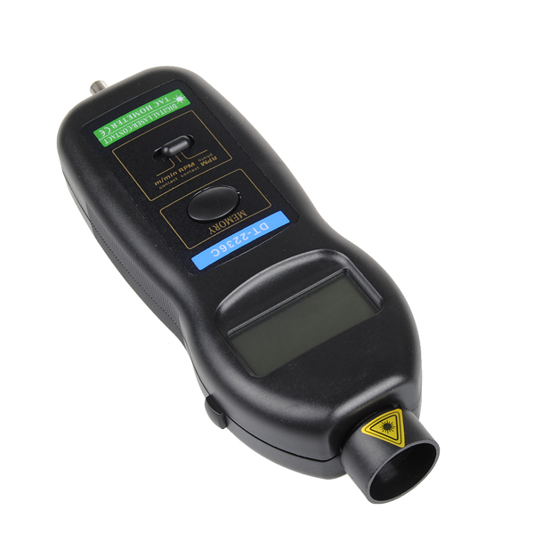 DT2236C Speed Detector Meter Laser RPM Tachometer LED Digital Optical Contact Tachometer Detector Meter New hot sale 4 digital green led tachometer rpm speed meter proximity switch sensor 12v