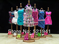 Free Shipping,30items= Clothes + Shoes + Hangers Mix Style Mix Color clothes evening dress For Barbie Doll