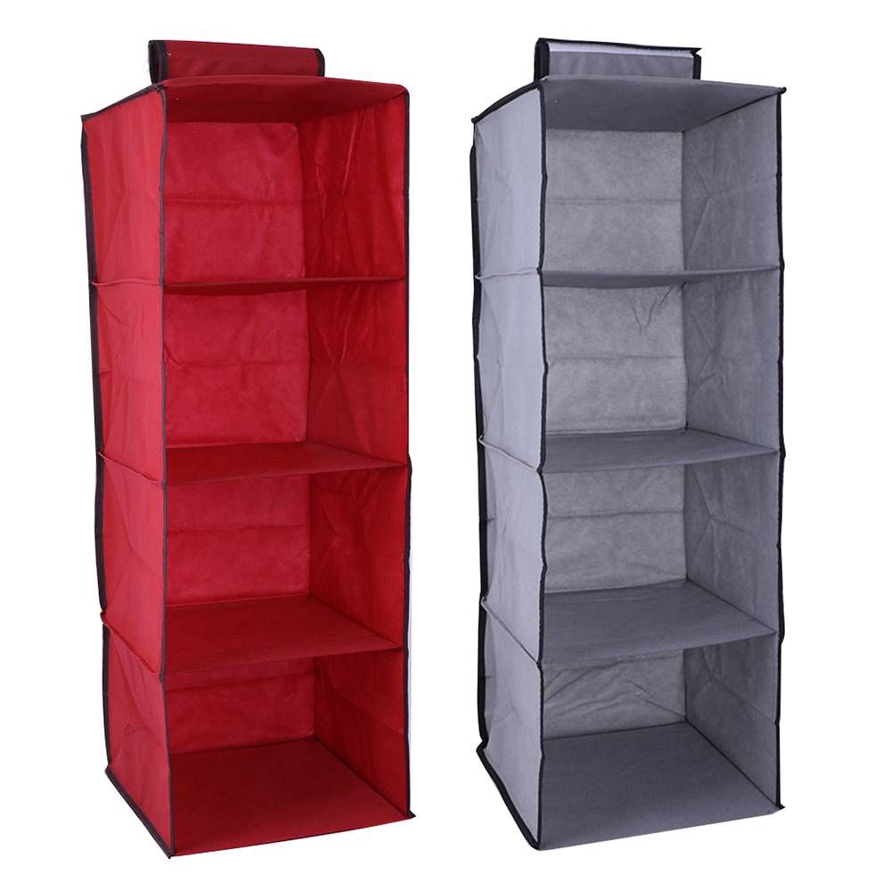 4-layer Tier Hanging Wardrobe Storage Bag Home Wall-mounted Wardrobe Storage Bedroom Space Saving Accessories Dropshipping
