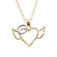 9f1e2d10b Angel Wing Necklace Angel Wings Guarded Heart Pendant Necklace Love Heart  bohemian jewelry best friends(