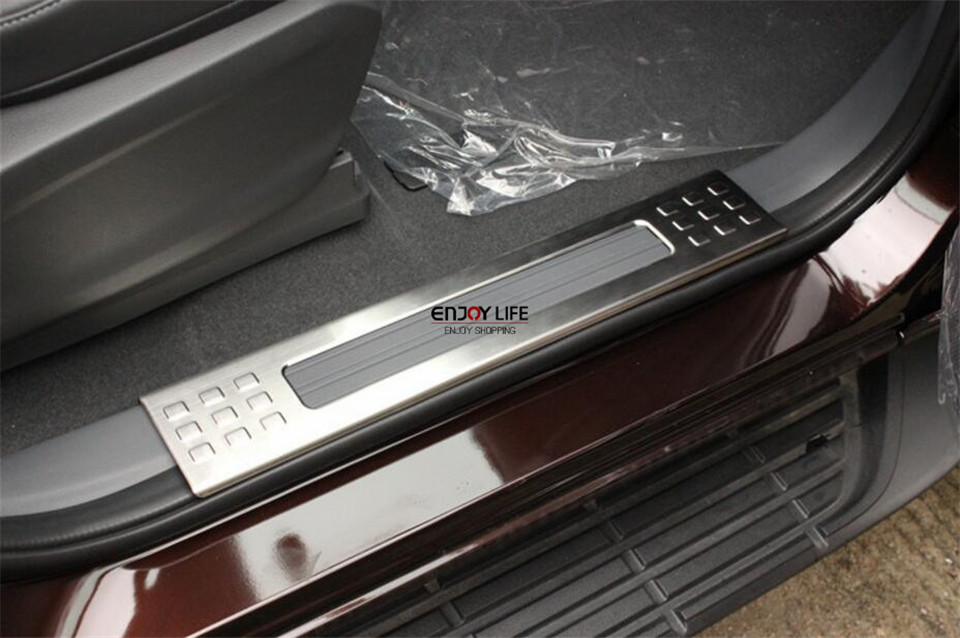 6pcs stainless steel car interior car door sill scuff plate cover trim for ford everest 2015. Black Bedroom Furniture Sets. Home Design Ideas