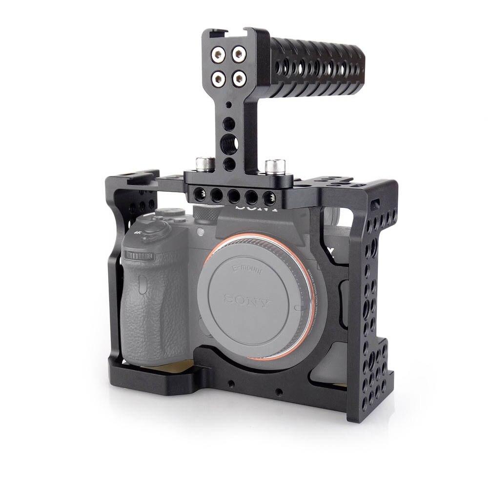 MAGICRIG DSLR Caméra Cage avec Top Poignée Pour Sony A7II/A7III/A7SII/A7M3/A7RII/A7RIII caméra À Extension De Dégagement rapide Kit