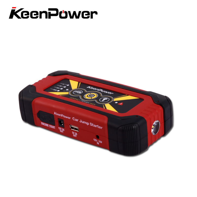 Keenpower Car Jump Starter Portable 12V Petrol Diesel Car-Stlying Starting Device Power Bank 600A Charger Car Battery Plug 6l petrol 4l diesel 74000mwh car jump starter 800a peak car battery power pack 12v auto charger portable starting device bank