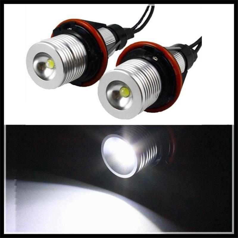 xenon white led angel eyes halo light bulb no error headlight for bmw e39 e83 x3 06-10 e53 x5 04-06 car led marker angel eyes