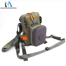 Maximumcatch Fly Fishing Tackle Bag Chest Bag Waist Pack Army Green with Molded Fly Bench