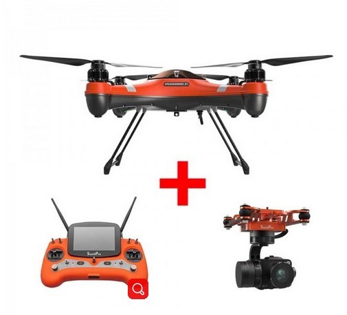 2018 Swellpro Splash Drone 3 Waterproof with 4K Camera 3 AXIS gimbal and Monitor Auto Quadcopter RTF