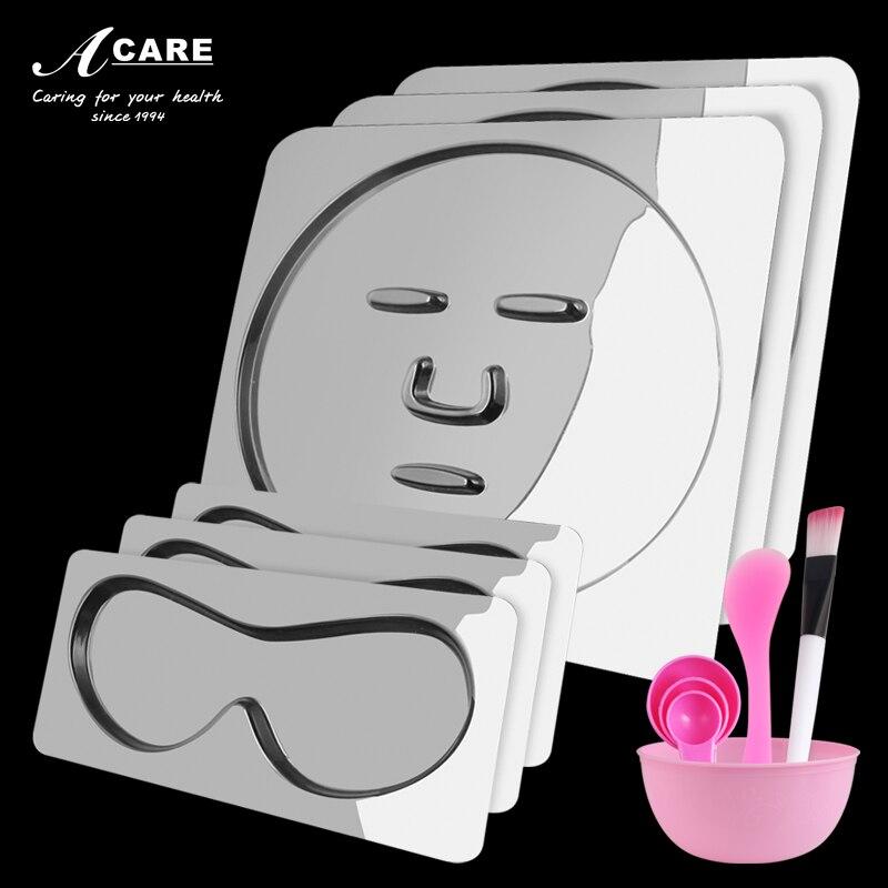 Acare DIY Facial Mask Tray Silicone PVC Mask Mould Silicone Clear Facial Mask Mold Seaweed Vegetable Masks Machine Maker Makeup