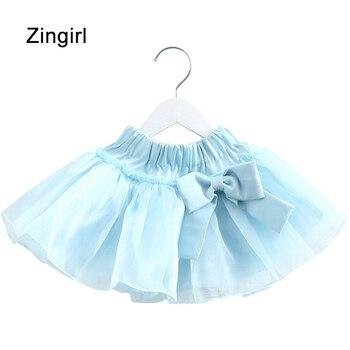 Zingirl high waist bow cute mesh a-line skirts sweet casual brief princess skirt girls 2018 new spring summer dancer skirt ked
