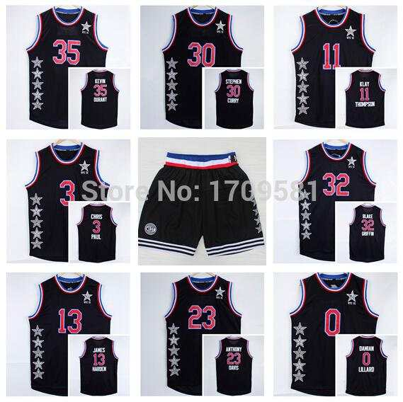 new style 5d914 d6337 Newest 30 Stephen Curry Jersey 32 Blake Griffin 35 Kevin ...