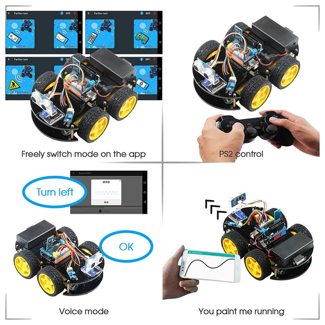 Arduino Robot RC Remote Control - Robotics Kit 3