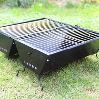 Garden Outdoors Folding Barbecue Grill For Camping Black Portable Oven Cookware BBQ Tool Accessories Outdoor Campfire Meat Party