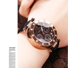 Fashion GUOU Brand Female Genuine Leather Clocks Top Quaity