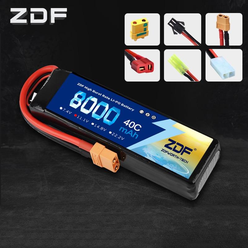 ZDF Bateria AKKU 3 S 11.1 V 8000 mah 40C LiPo batterie Traxxas pour RC hélicoptère avion voiture bateau S800 S1000 Drone