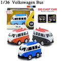 Volkswagen diecast toy buses & School Bus & toy city bus four kinds of mini toy bus for kids