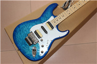 Factory direct Factory Custom Shop Hollow Body ST Electric Guitar ,blue ,real photos high quality custom shop lp jazz hollow body electric guitar vibrato system rosewood fingerboard mahogany body guitar