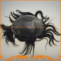База супер тонкая кожа толщиной 0.06 ~ 0.08 мм Индийский реми волосы V петля узел тупею мужчин фондовых мужские волосы частей бесплатная доставка,