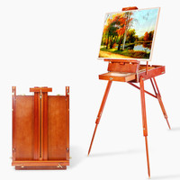 Easel Caballete Easel for Painting Artist Oil Painting Stand Wood Easel Painting Accessories Caballete Pintura Drawing Table