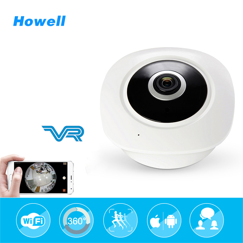 Howell HD 960P 1.44mm FishEye 360 angle Panoramic Wifi surveillance camera 1.3MP Network Mini Baby Monitor IR Security fake Cam erasmart hd 960p p2p network wireless 360 panoramic fisheye digital zoom camera white