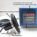 Электронный цифровой счетчик электронный кодовый датчик цифровой счетчик длины колесо измерителя рулон измерение длины измерительный при...