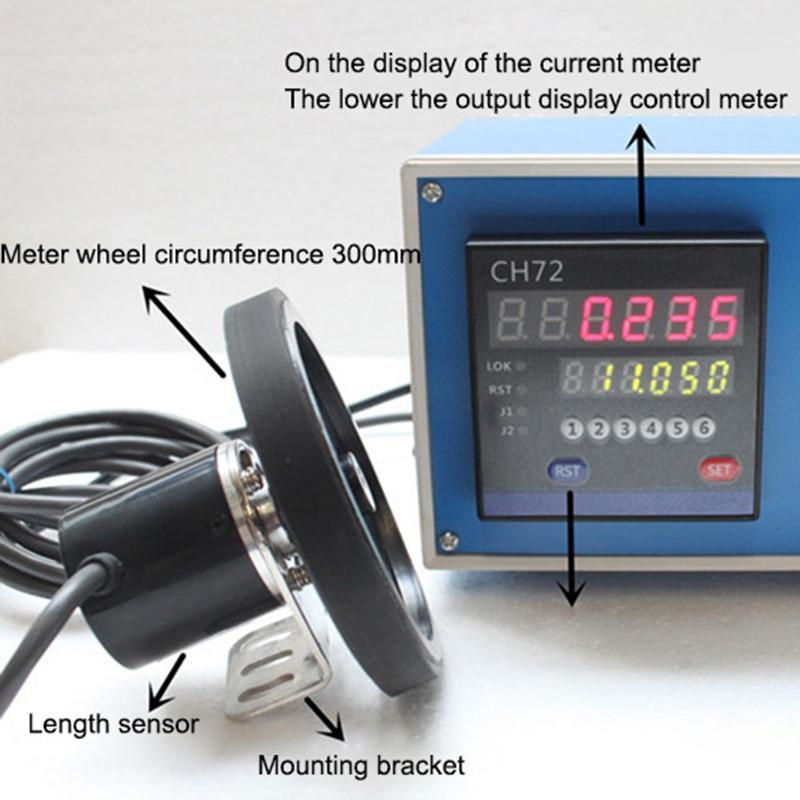 Electronic Digital Meter Electronic Encoder Digital Length Counter Meter Wheel Roll Length Measuring Meter Testing Equipment