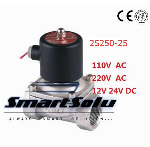 free shipping g3 4 stainless steel solenoid valve 2w200 20 no normally open for acid water air oil dc12v dc24v ac110v Free Shipping Free Shipping 1 Stainless Steel Normally open Valve 2 Way VITON Oil Acid 110VAC Solenoid Valve