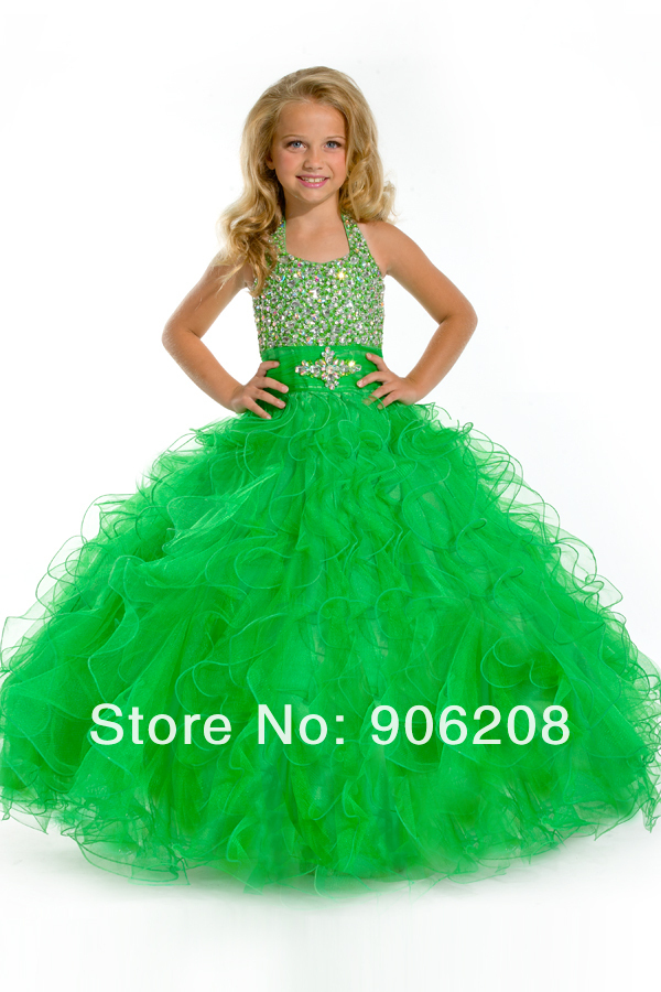 Quality goods Lowest price Free shipping 2015 New arrive   flower     girl     dresses   Long Pageant   dress