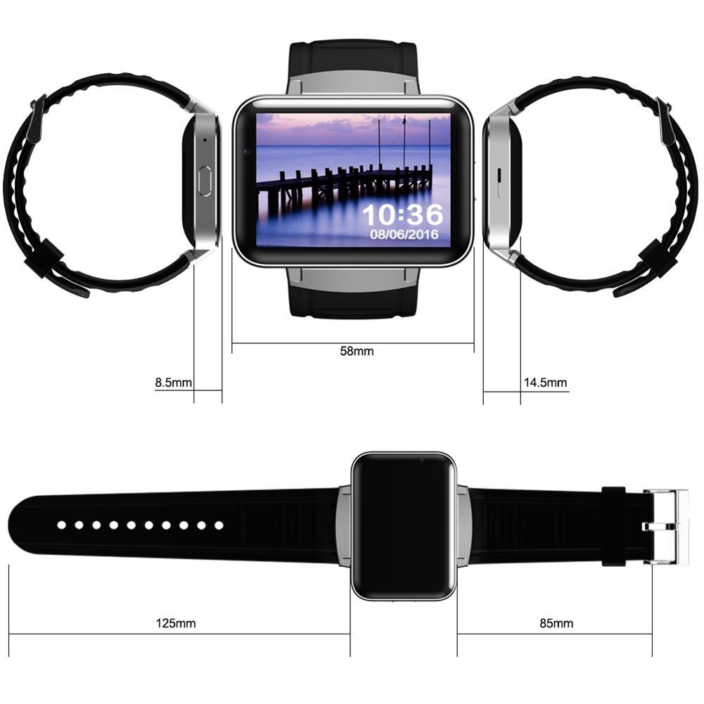 Смарт часы 2,2 дюймов Android OS 3g Smartwatch MTK6572 двухъядерный 1,2 ГГц 512 Мб ОЗУ 4 Гб ПЗУ камера WCDMA gps R20 - 5