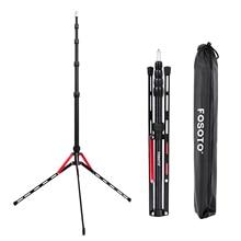 купить Fusitu FT-190B Red Aluminum Alloy Tripod Portable Photography Light Stand for Photo Studio Relfectors Softboxes Lights Umbrellas дешево