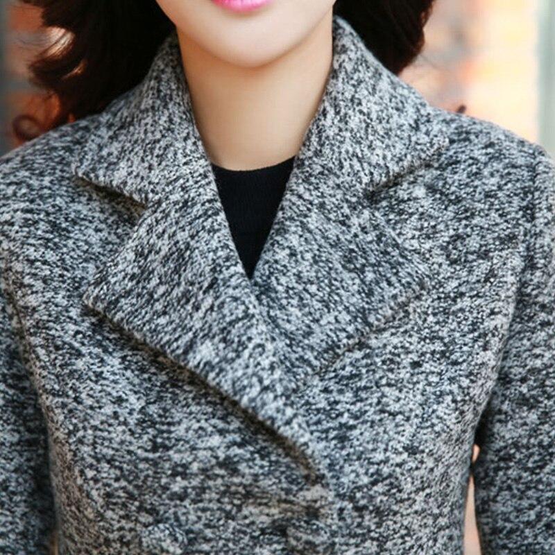 Femmes dark Gray Manches Laine Unie En Mode Boutonnage Light Mince Automne X969 Double Court Couleur De 2018 Longues hiver À Manteau Gray Nouveau Fnq4rw1F