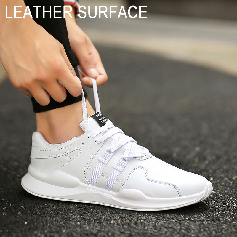 New Men Casual Shoes Fashion Lace Up Sneakers Men Breathable Mesh Shoes Leather Sneakers vixleo air mesh breathable men casual shoes high top pu leather shoes lace up superstar light leisure men shoes size 39 44