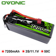 OVONIC 7200mAh  3S1P/11.1V Lipo Batteries Pack Deans Plug Hard Case Power for Axial Redcat Racing 1/8or 1/10 RC Car Buggy Truck