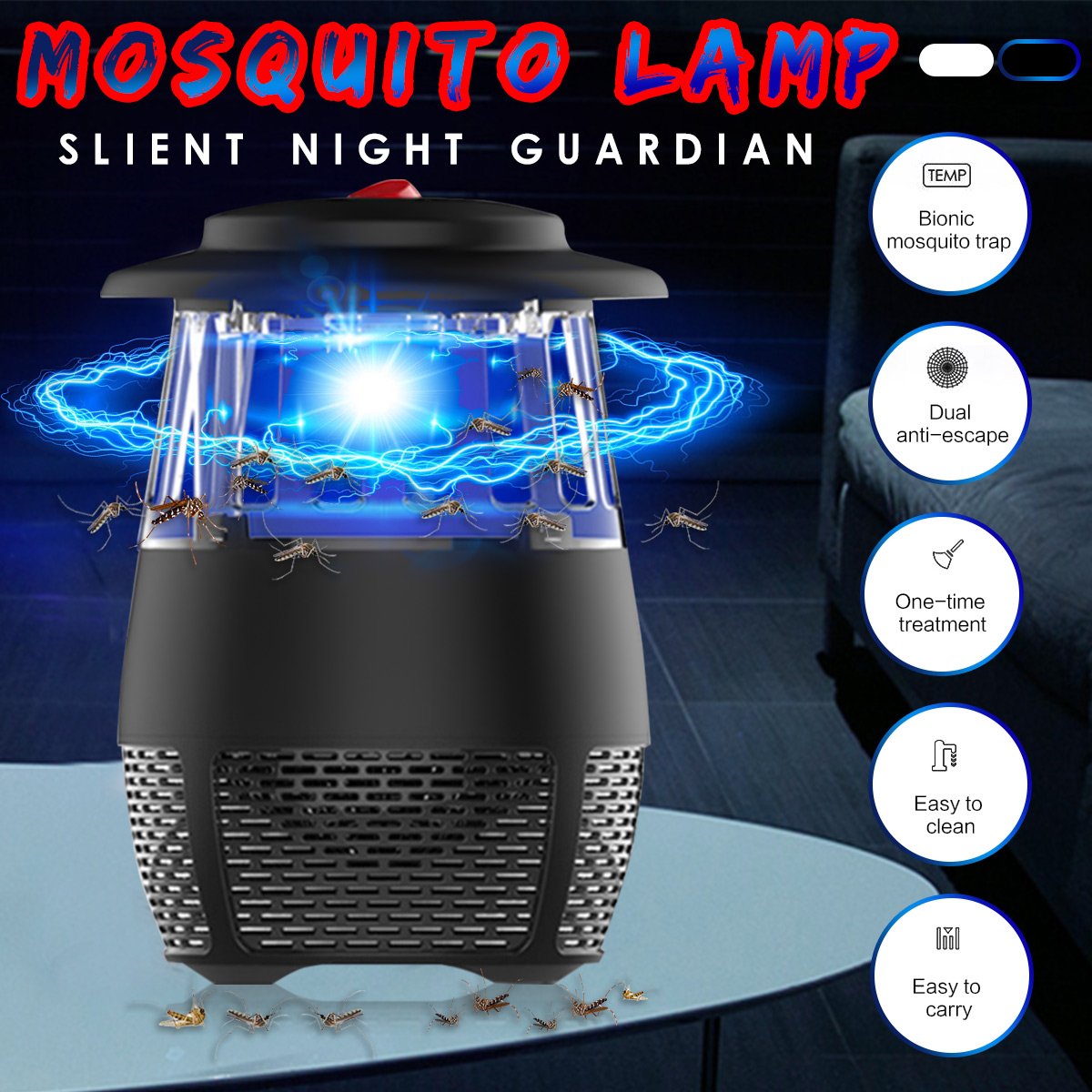 Led Electric Usb Mosquito Fly Bug Pest Insect Killer