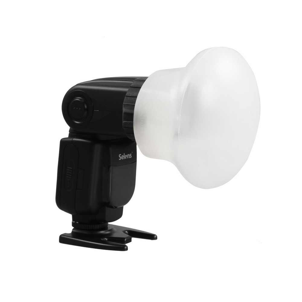 New Selens Magnetic Silicon Light Diffuser Rubber Sphere Modular Flash Accessories for Canon Nikon Yongnuo on-Camera Speedlite